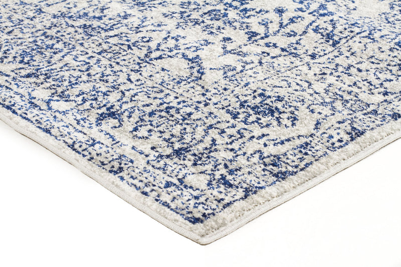 Evoke Frost Blue Transitional Rug