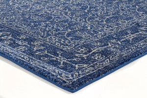 Evoke Artist Navy Transitional Runner Rug