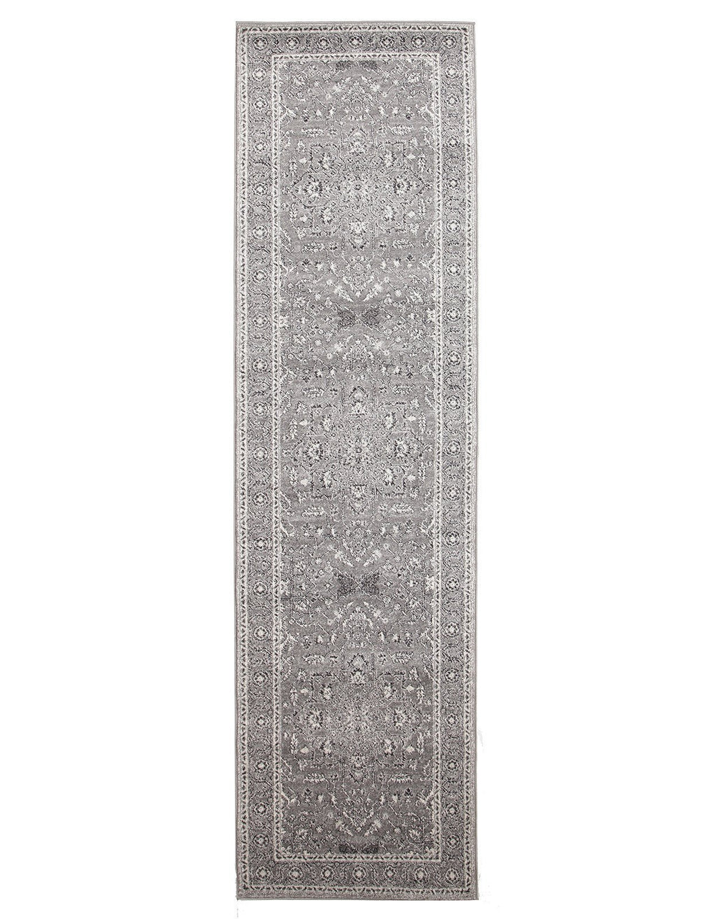 Evoke Stone Grey Transitional Runner Rug