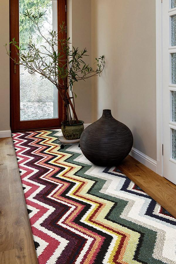 Gemini Modern 504 Multi Coloured Runner Rug