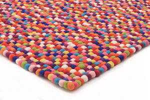 Gumball Felted Wool Unique Textured Ball Design Multi Rug - Cheapest Rugs Online - 2