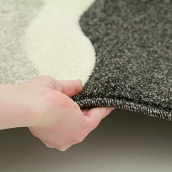 Icon Stunning Thick Wave Runner Rug Charcoal