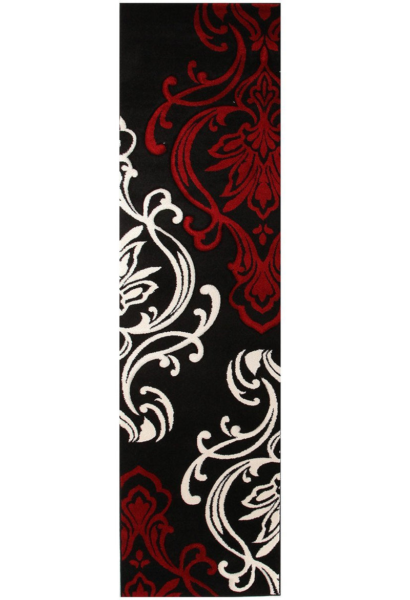 Icon Stunning Thick Designer Runner Rug Black