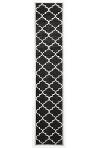 Icon Large Modern Trellis Rug Charcoal