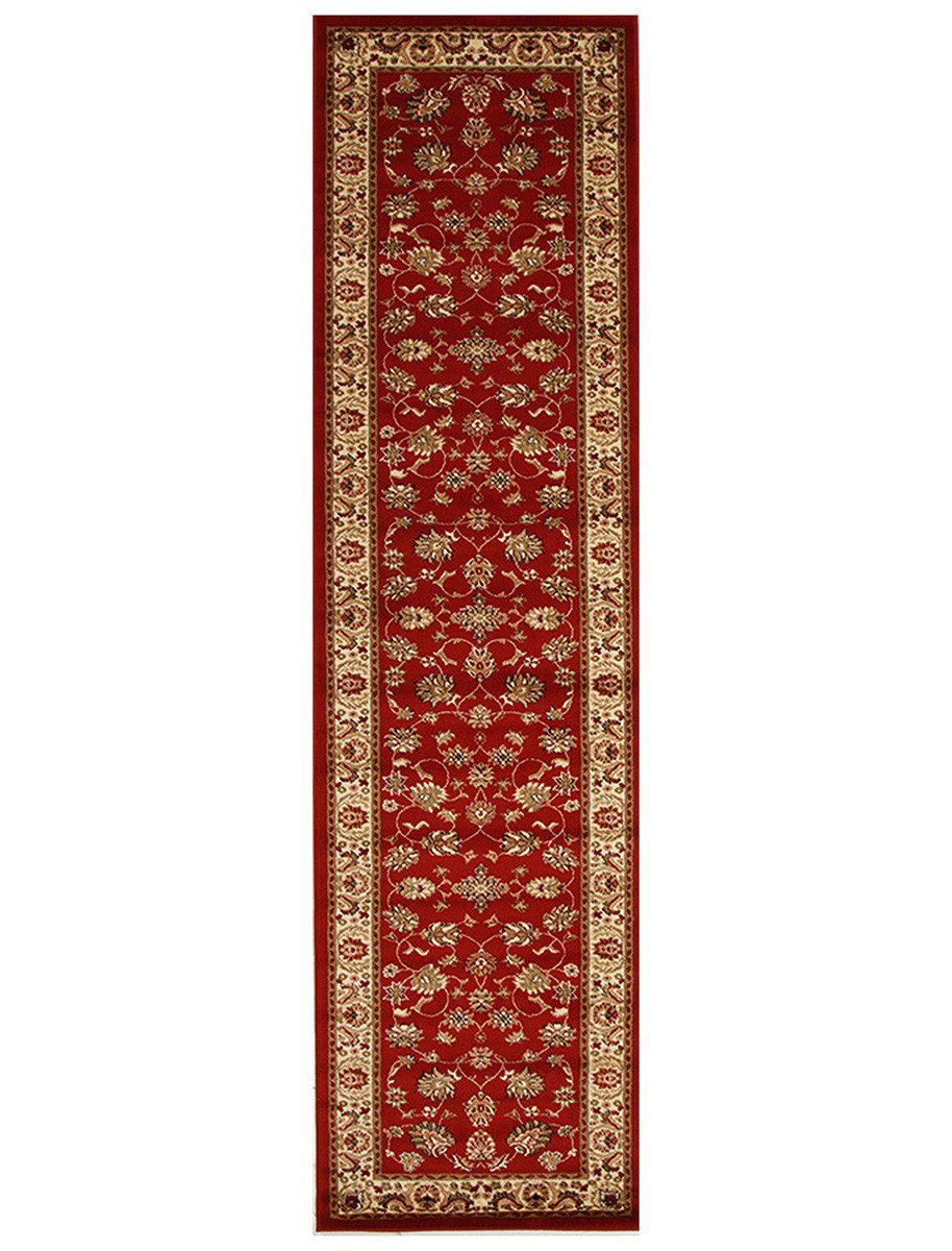 Istanbul Traditional Floral Pattern Runner Rug Red