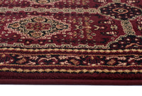 Istanbul Traditional Afghan Design Runner Rug Burgundy Red