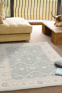 Jewel Chobi Design 800 Light Blue Bone Rug