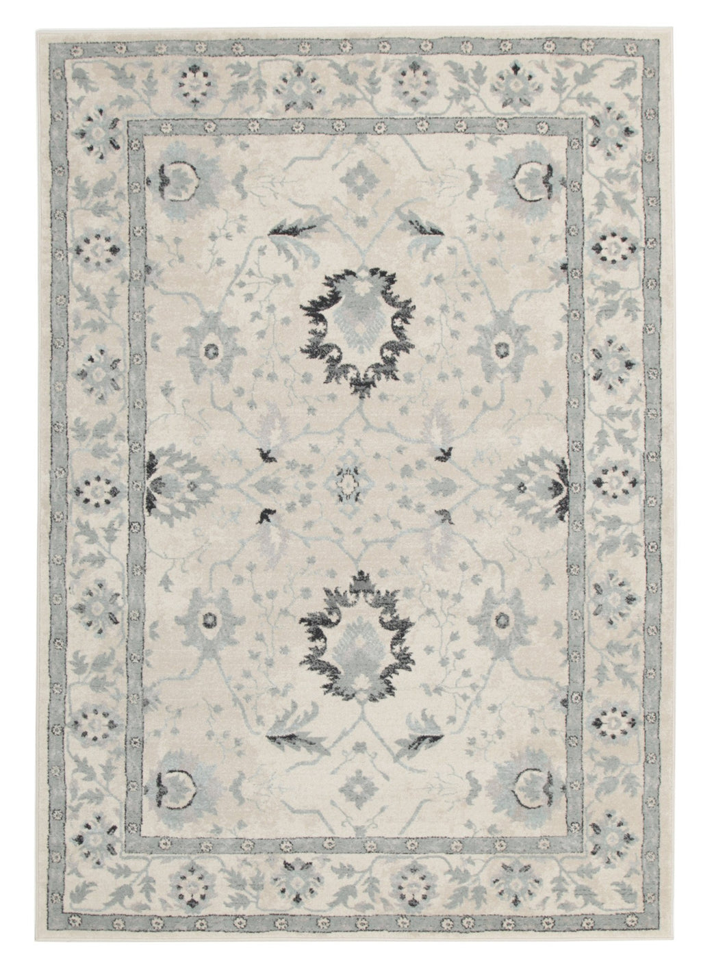 Jewel Nain Design 804 Bone Blue Navy Rug