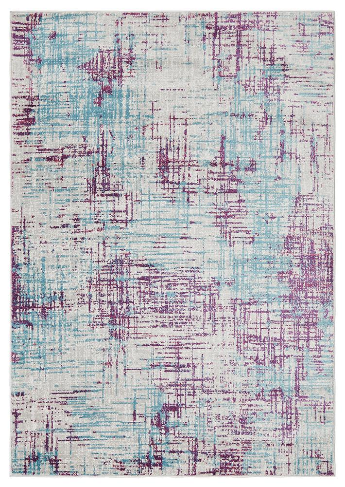 Skyler Abstract Rug Grey Blue Purple