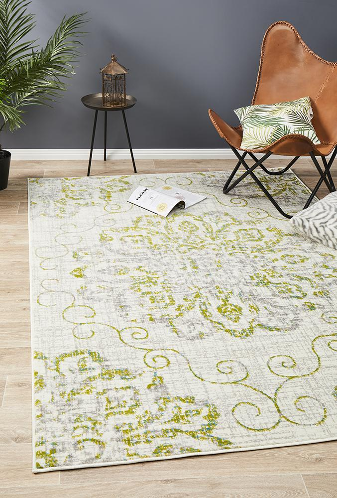 Giselle Transitional Rug Green Grey