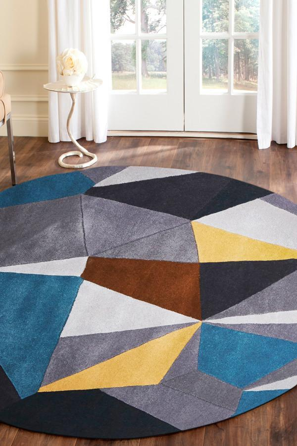 Matrix Pure Wool 902 Safari Round Rug
