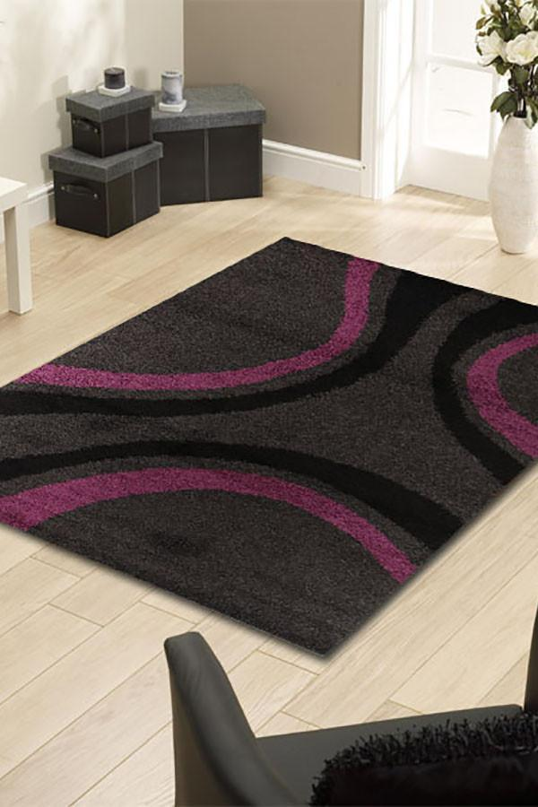 Notes Collection 3 Charcoal And Purple Rug