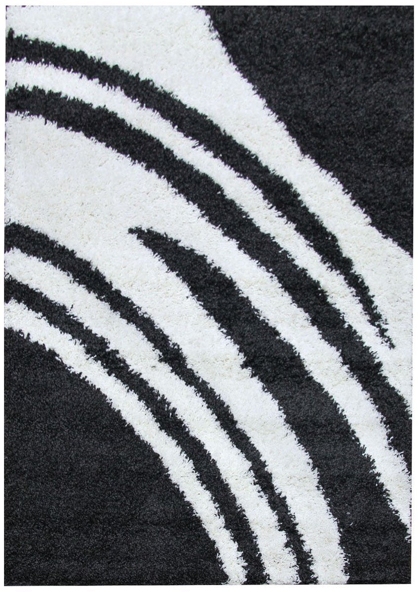 Notes Collection 4 Charcoal and White Rug