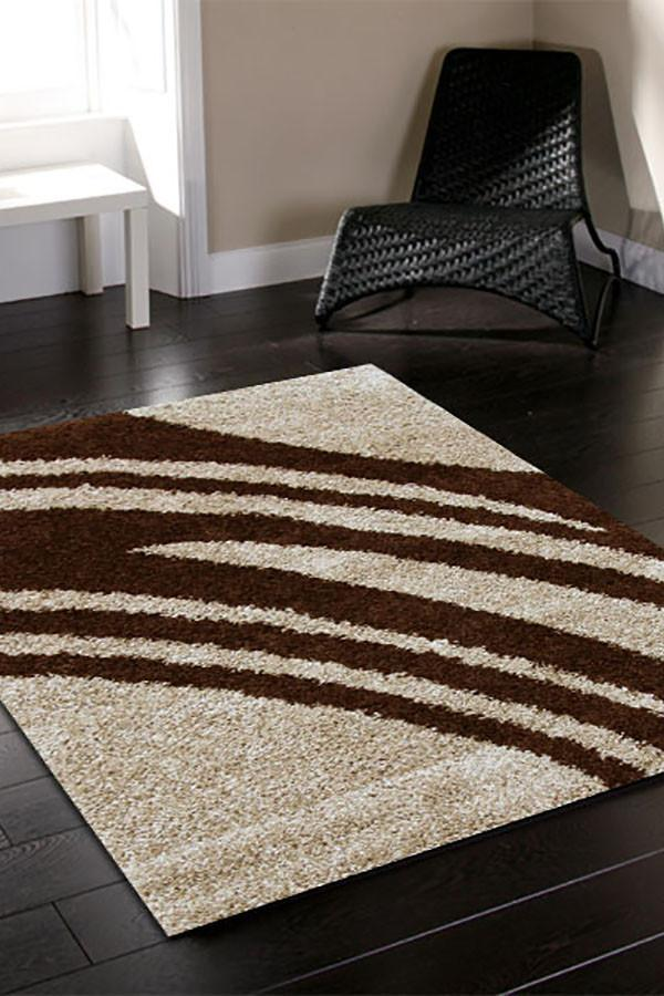 Notes Collection 4 Beige and Brown Rug