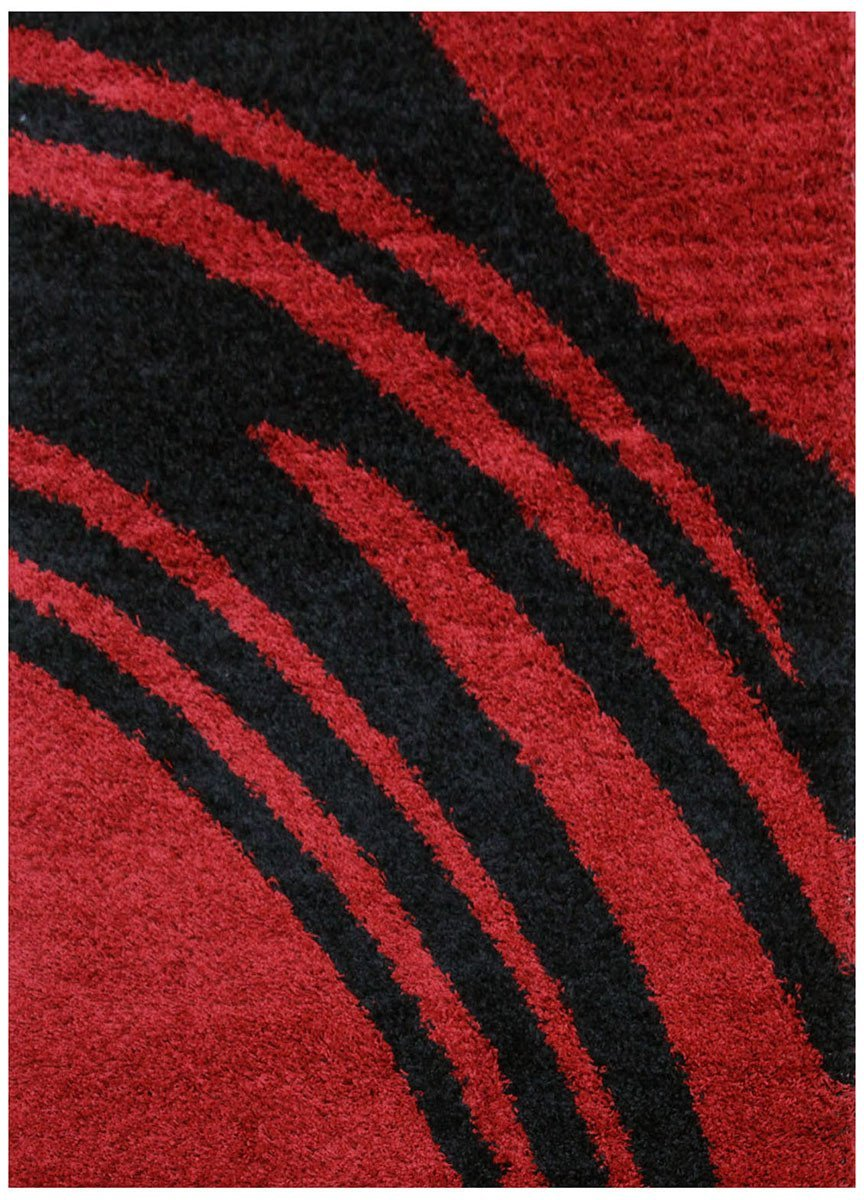 Notes Collection 4 Red And Black Rug