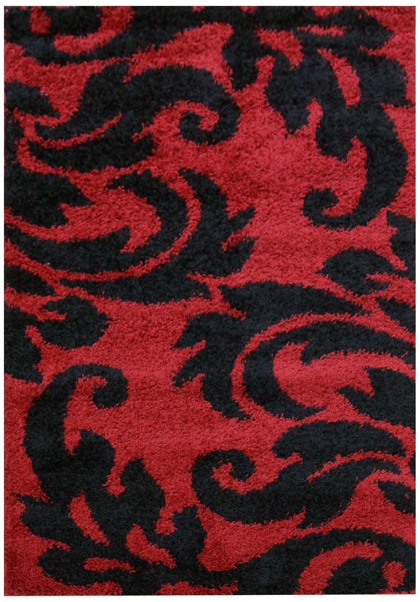 Notes Collection 5 Red And Black Rug