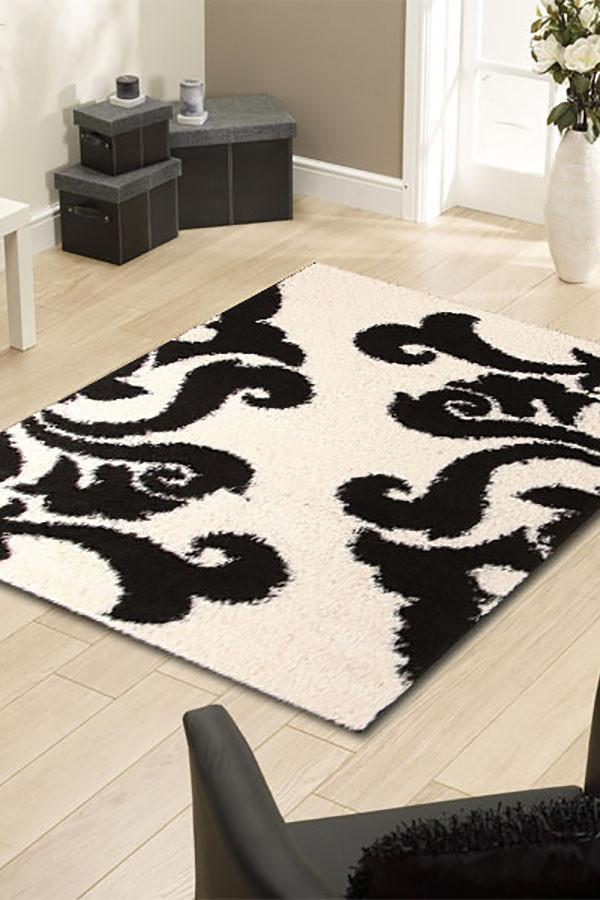 Notes Collection 6 White And Black Rug
