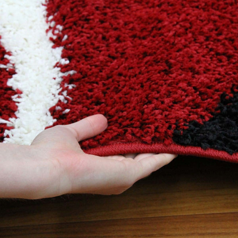 Notes Collection 7 Red And Black Rug