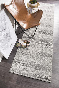 Oasis Zakira Dark Grey Tribal Runner Rug