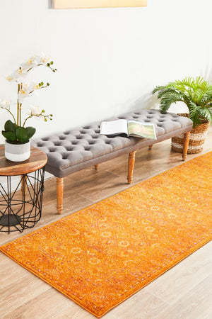Radiance 444 Burnt Orange Runner Rug