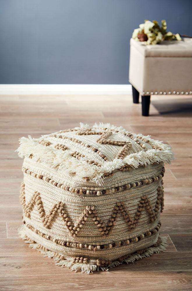 Rug Culture Home 508 Natural Ottoman