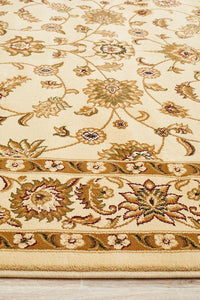 Sydney Collection Classic Rug Ivory with Ivory Border