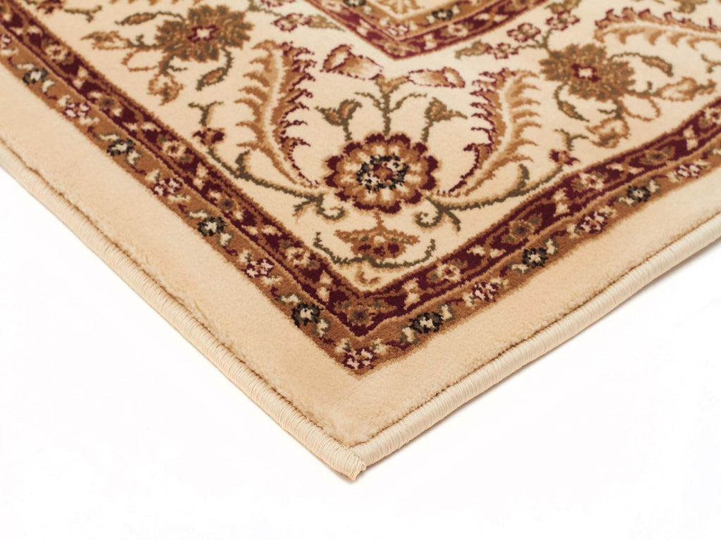 Sydney Medallion Runner Ivory with Ivory Border Runner Rug