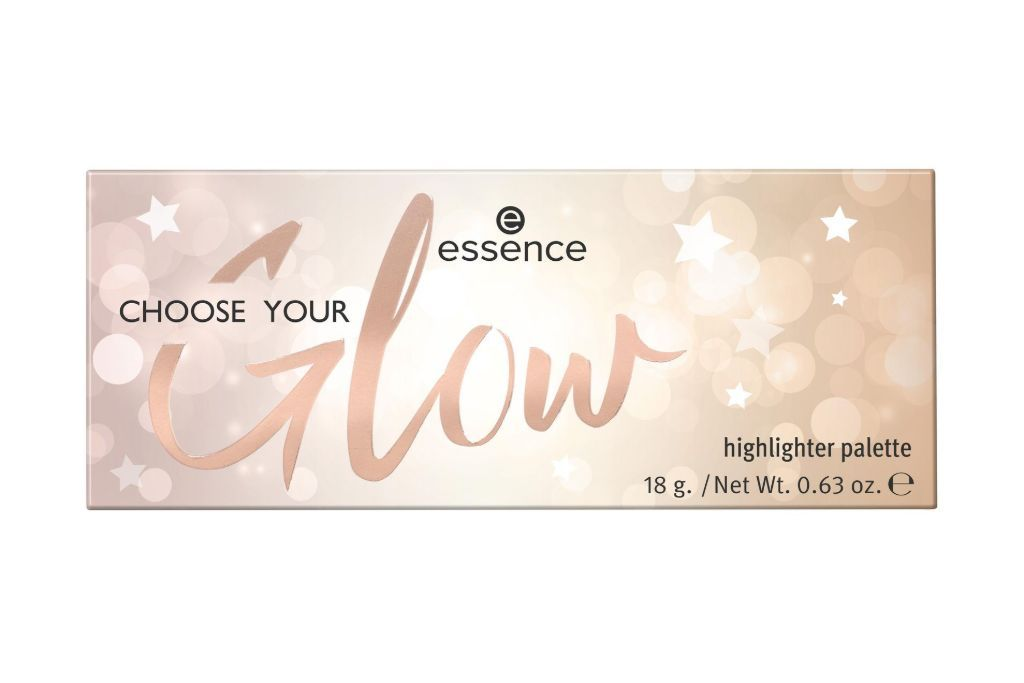 essence CHOOSE YOUR Glow korostuspaletti