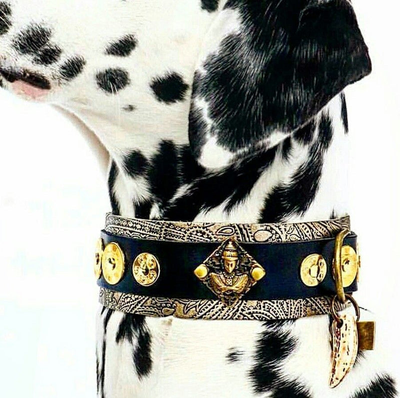 Buddha Paisley Dog Collar - BARCELONADOGS