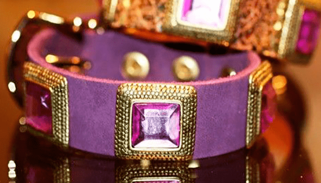Amethyst Dog Collar - BARCELONADOGS