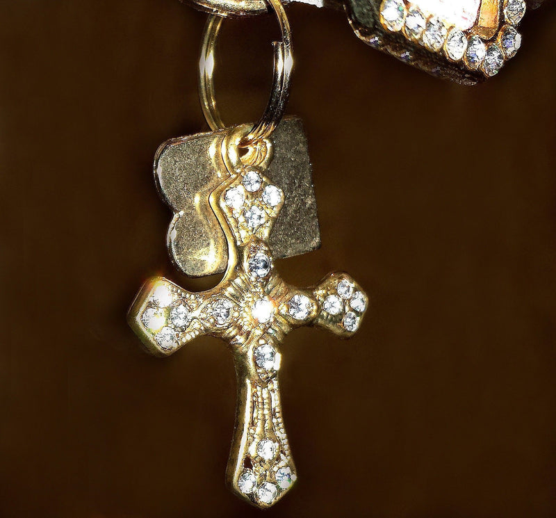 Cross Dog Charm - BARCELONADOGS