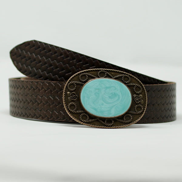 Indochine Belt in Turquoise