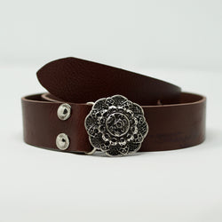 Antique Rose Belt Silver - BARCELONADOGS