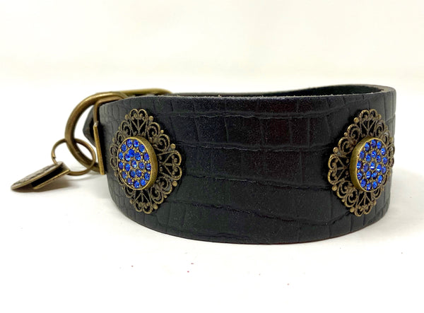 Filigree Crystal Dog Collar