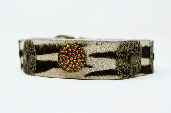 Zebra Filigree Dog Collar - BARCELONADOGS