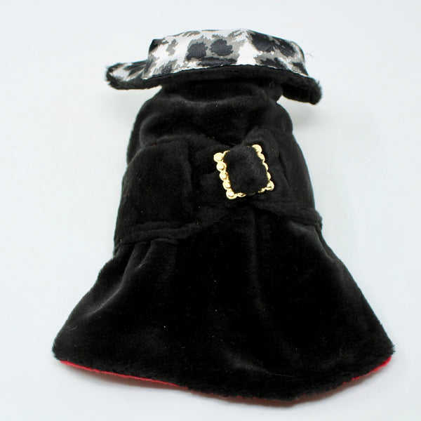 Black Velvet Dog Coat - BARCELONADOGS