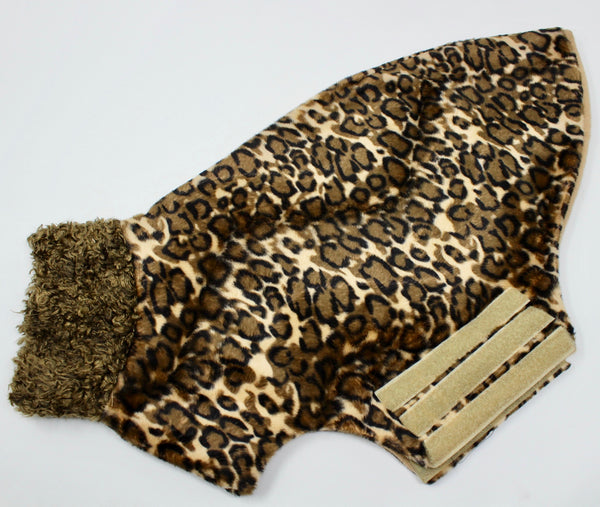 Leopard Sighthound shaped Dog Coat - BARCELONADOGS