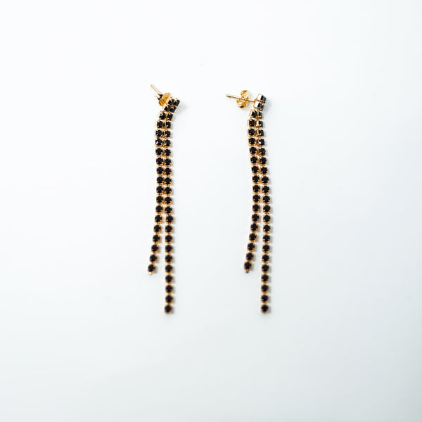 Berlin Black Swarovski Earrings - BARCELONADOGS