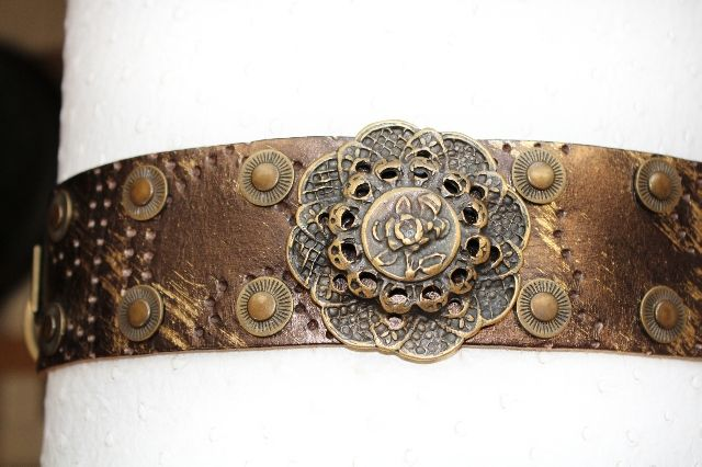 Antique Copper Rose Collar - BARCELONADOGS