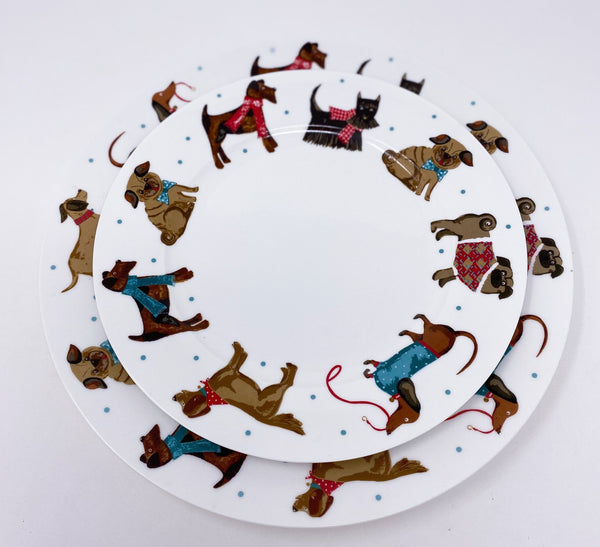 Porcelain Plate for Dog Lovers