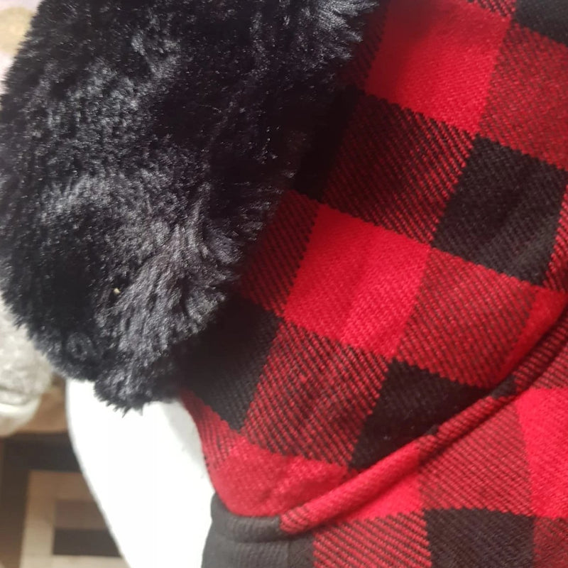 Red Black Buffalo Plaid Sighthound Coat - BARCELONADOGS