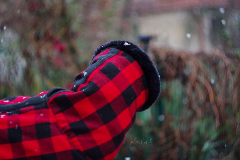 Red Black Buffalo Plaid Coat - BARCELONADOGS