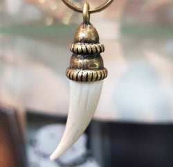 Ivory Tusk Imitation Dog Charm - BARCELONADOGS