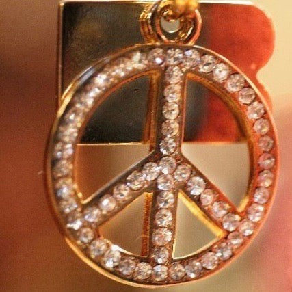 Peace Symbol Dog Charm - BARCELONADOGS