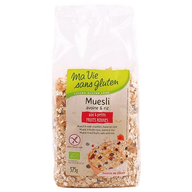 Muesli Bio aux 4 Fruits Rouges