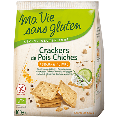 Crackers Bio de Pois Chiches Curcuma Poivre