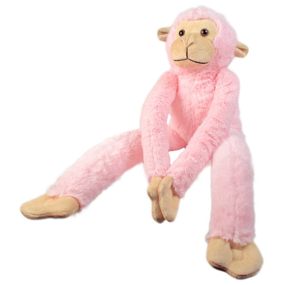 Hanging Long Monkey Stuffed Soft Toy 21 Inches - Pink