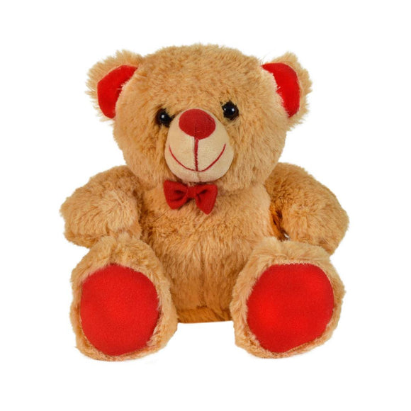 Jolly Teddy Bear Soft Toy 7 Inches Brown