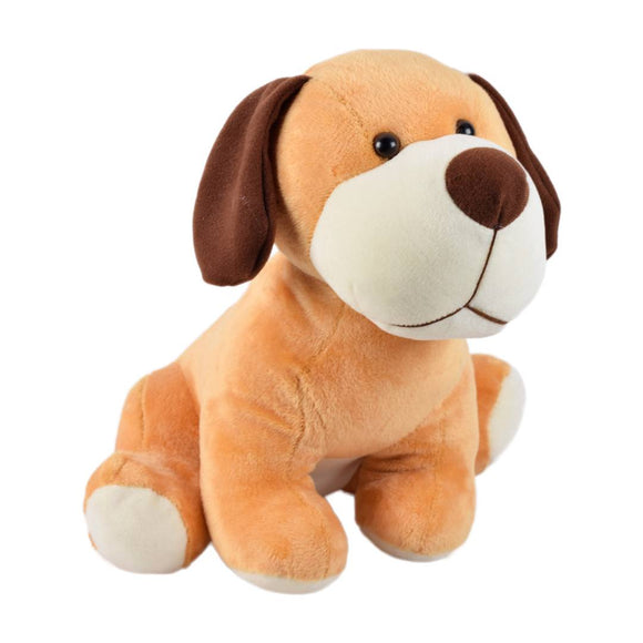 Cute Sitting Dog Soft Toy 12 Inches Brown