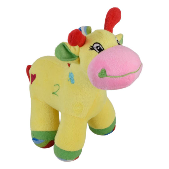 Colourful Baby Giraffe with sound 9 Inches Yellow